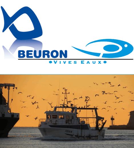 Logo Beuron Vivo Group bateau blanc