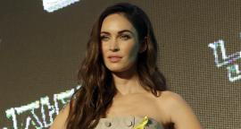 Megan Fox hits in a dress with a plunging neckline in Los Angeles