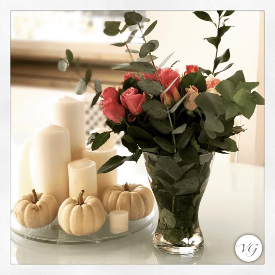 Zucca nelle decorazioni di casa