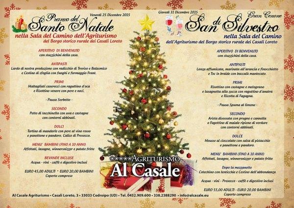 natale capodanno 2015 codroipo agriturismoa 600x424 Pranzo di Natale e Cenone di San Silvestro, agriturismo Al Casale Codroipo