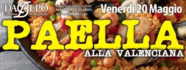 paella 600x226 Serata Paella ★ Venerdì 20 Maggio – Trattoria Da Bepo Bugnins