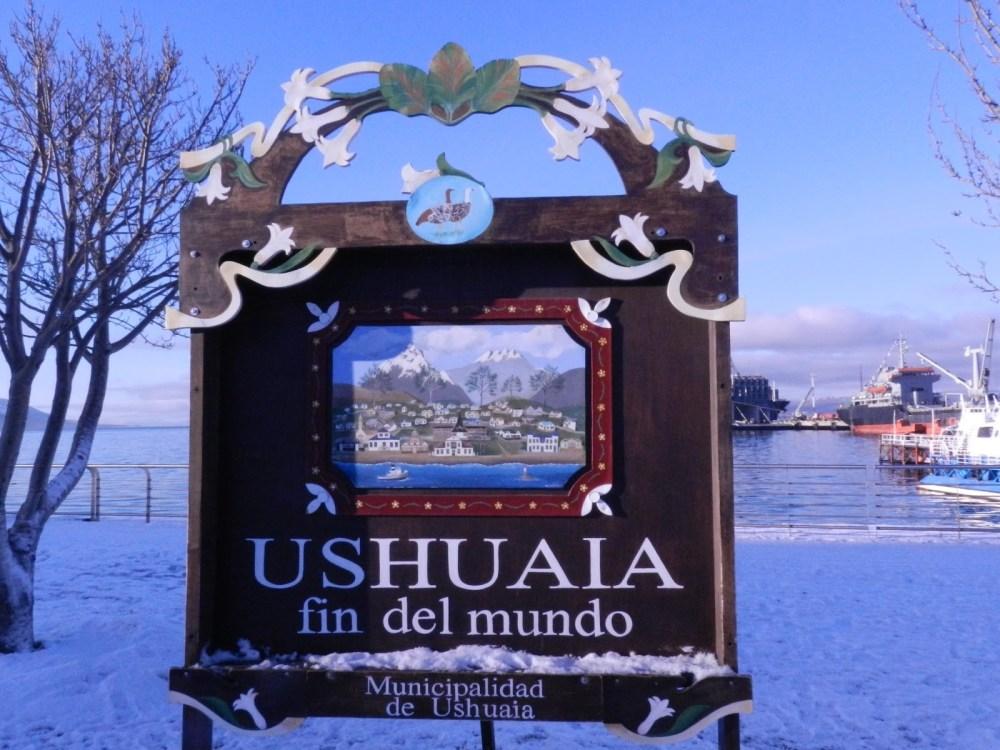 Ushuaia - placa fin del mundo