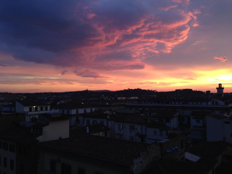 Por do sol Florença - Duomo