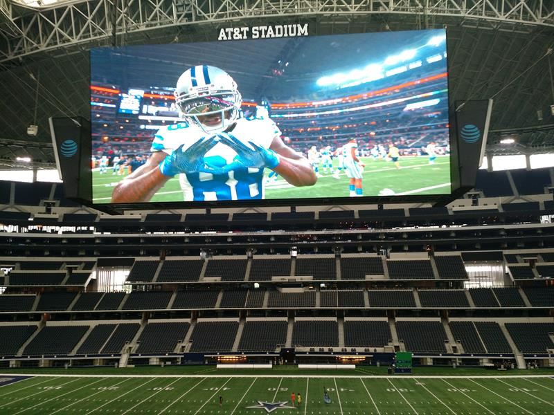 Telão AT&T Stadium Dallas Cowboys