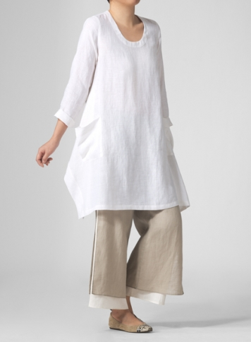 MISSY Clothing Linen Double Layer Pants