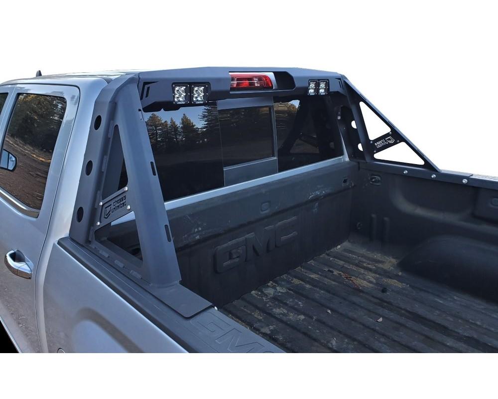 chassis unlimited silverado headache rack for 15 18 silverado 2500 3500 chase rack octane series