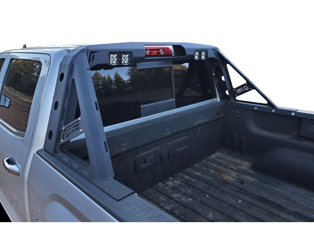 chassis unlimited tacoma headache rack for 16 19 tacoma chase rack octane series