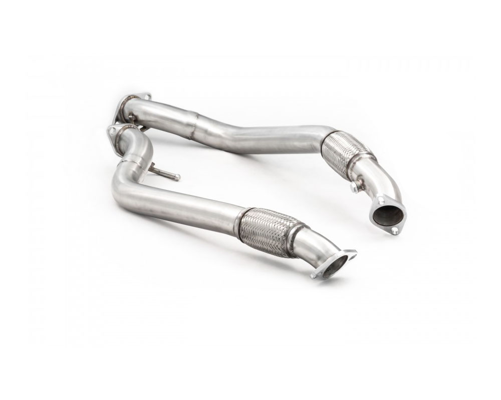 ark stainless 2 5 inch downpipe and race test pipe polished hyundai genesis coupe 3 8l 13 14