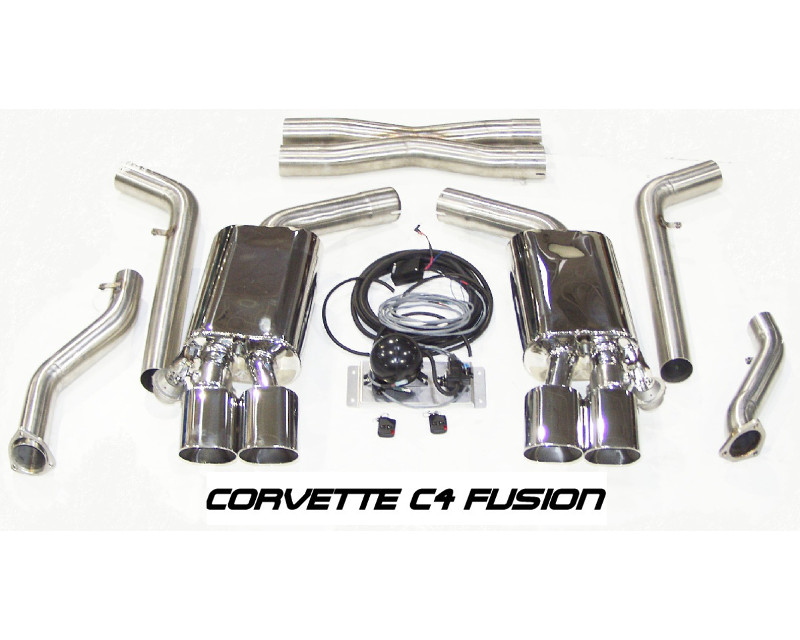 b b exhaust 3inch c4 fusion exhaust system with 4 5inch oval tips chevrolet corvette zr1 92 95