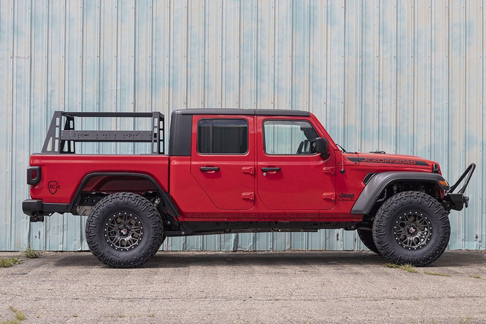 jeep gladiator jt bed rack full 21 5 inch jeep gladiator 20 present gladiator powdercoat jcr offroad