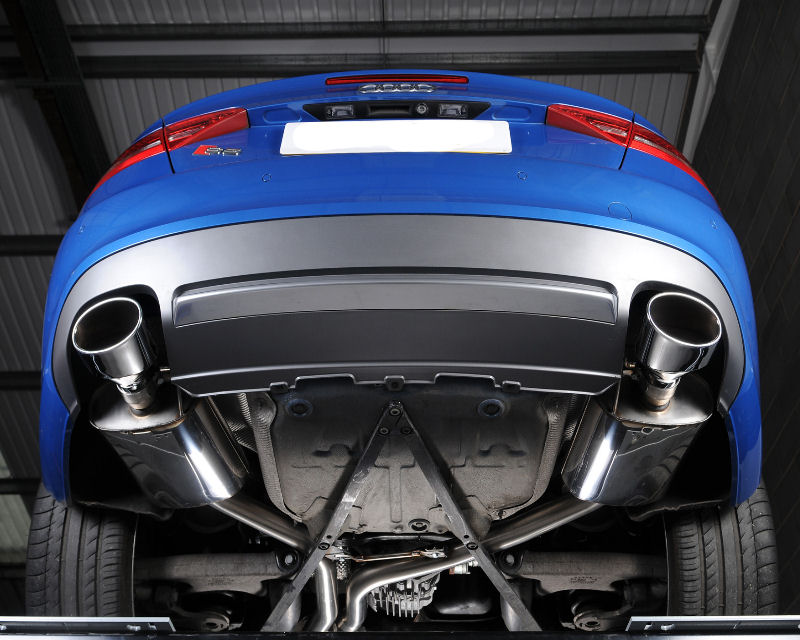 milltek catback exhaust system audi s5 coupe and cabriolet 3 0tfsi quattro s tronic b8 09 11