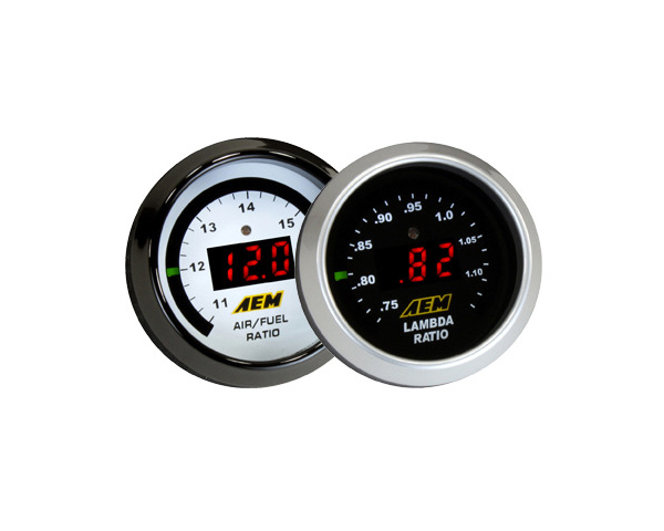 AEM s legendary Digital Wideband O2 AFR UEGO Gauge is a wideband UEGO air/fuel ratio controller (AFR) and gauge in one. It unites accuracy, speed and control with an easy to read, digital LED display and sweeping LED