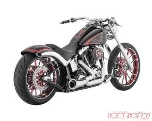 freedom performance exhaust turnout 2 into 1 chrome chrome