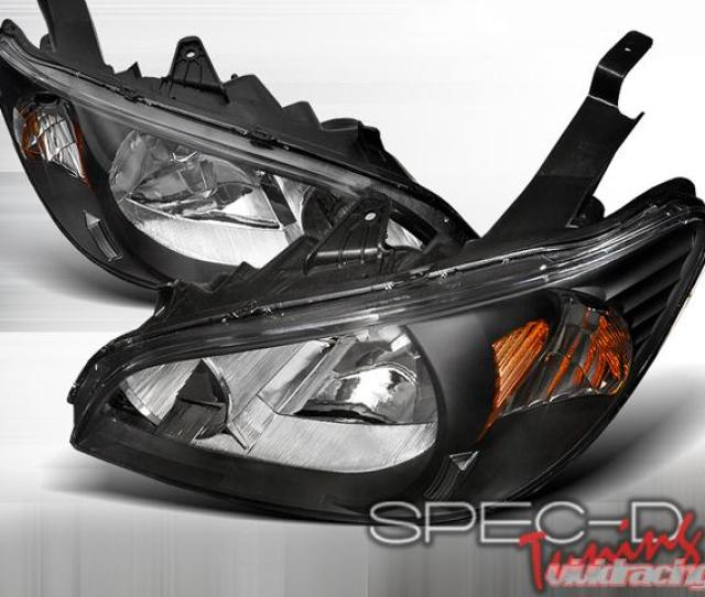 Specd Black Housing Headlights Honda Civic Lh Cv04jm Rs