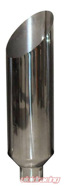pypes exhaust exhaust stack pipe miter 5 inch od x 6 inch x 36 inch 6 inch tip clamp on polished stainless steel