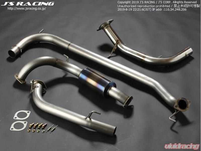 js racing fx pro 70rr titanium exhaust honda civic fn2 2006 2011