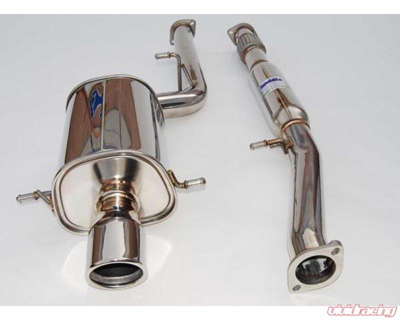 invidia q300 catback exhaust rolled stainless steel tips subaru wrx sti 2002 2007