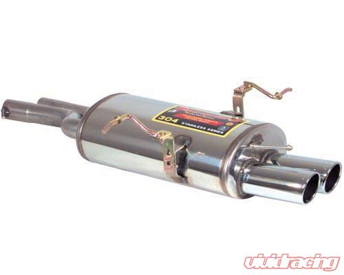 supersprint stainless axle back muffler twin tip bmw e46 330i 00 05