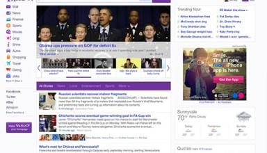Yahoo Homepage