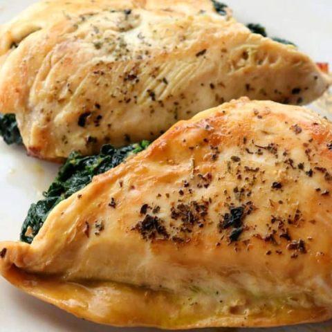 Receta de pechuga de pollo rellena de chile poblano con queso muy facil
