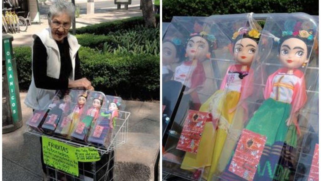 abuelita mexicana vende friditas en cdmx