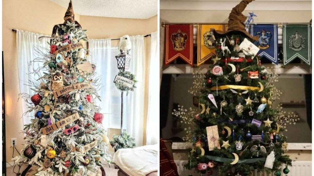 como decorar arbol de navidad harry potter