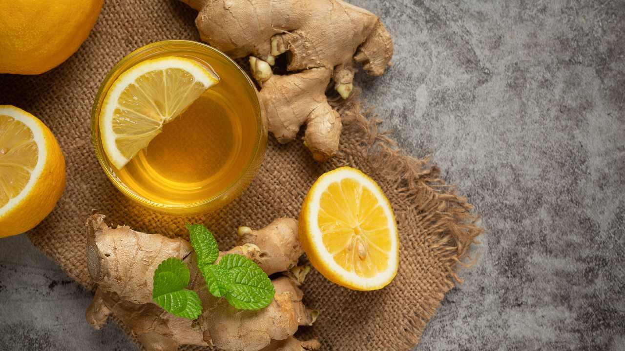 Té jengibre con limón amarillo