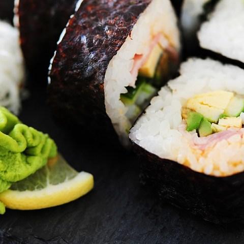 wasabi y sushi