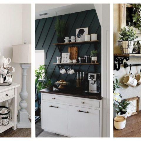 como hacer una estación de café en casa ideas espacios pequeños