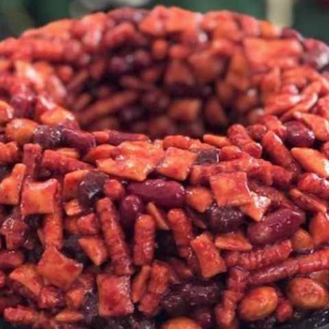 como hacer rosca de frutas con chamoy receta