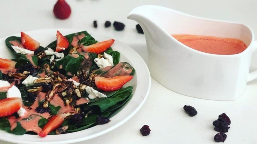 vinagreta de fresa receta como hacer ingredientes