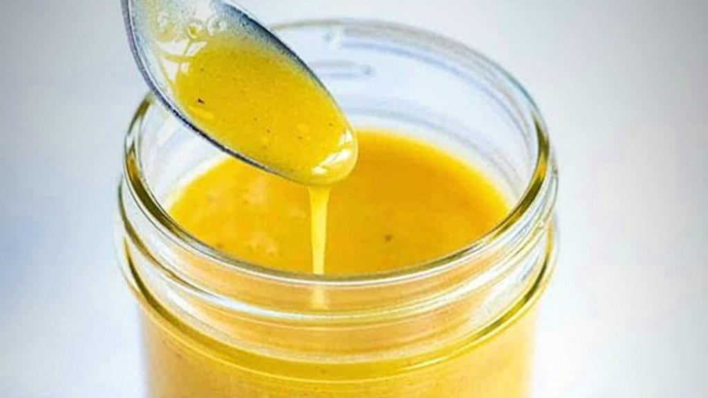 vinagreta miel de abeja y mostaza de Dijon receta fácil