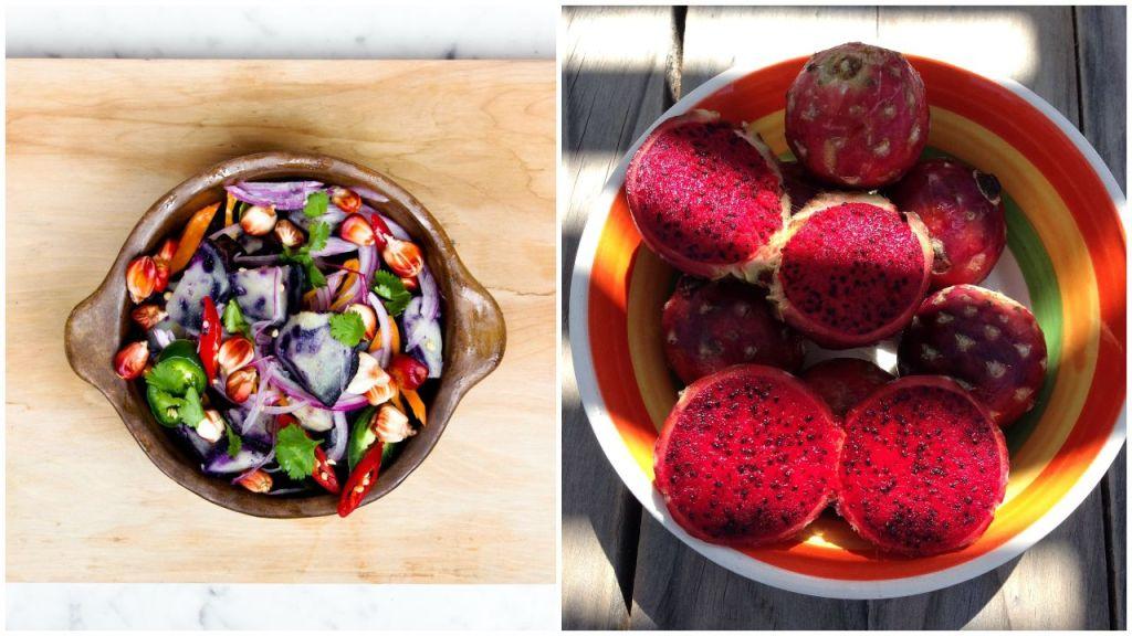 ensalada de pitahaya receta ingredientes lechuga