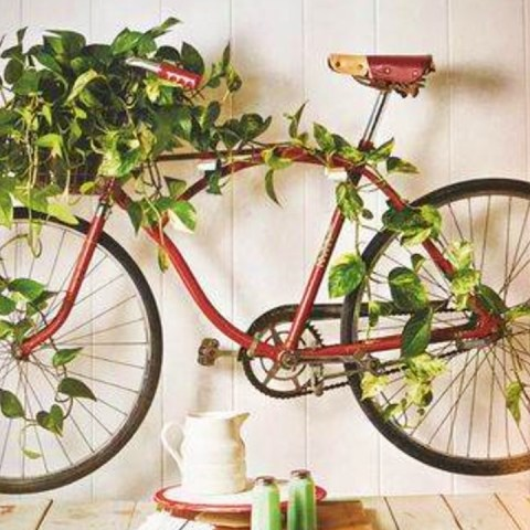 ideas aesthetic para guardar la bici en casa