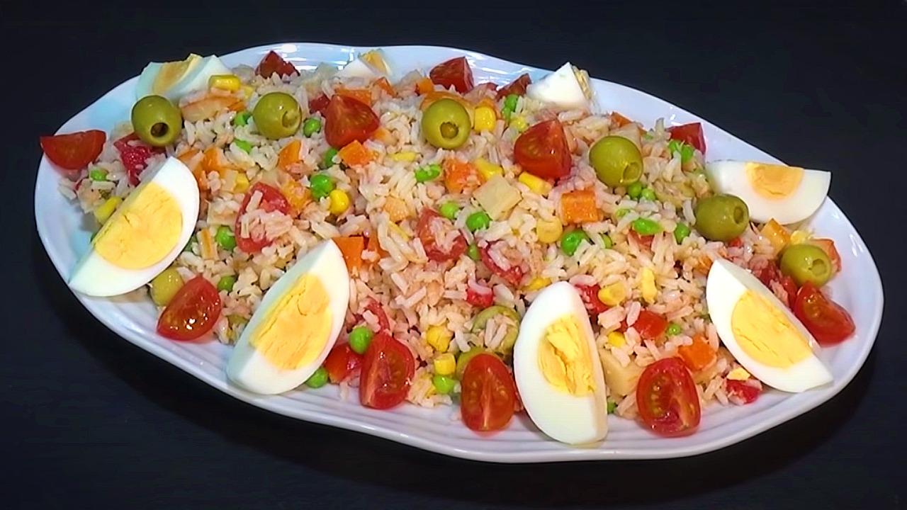 ensalada de arroz cómo se hace receta ingredientes