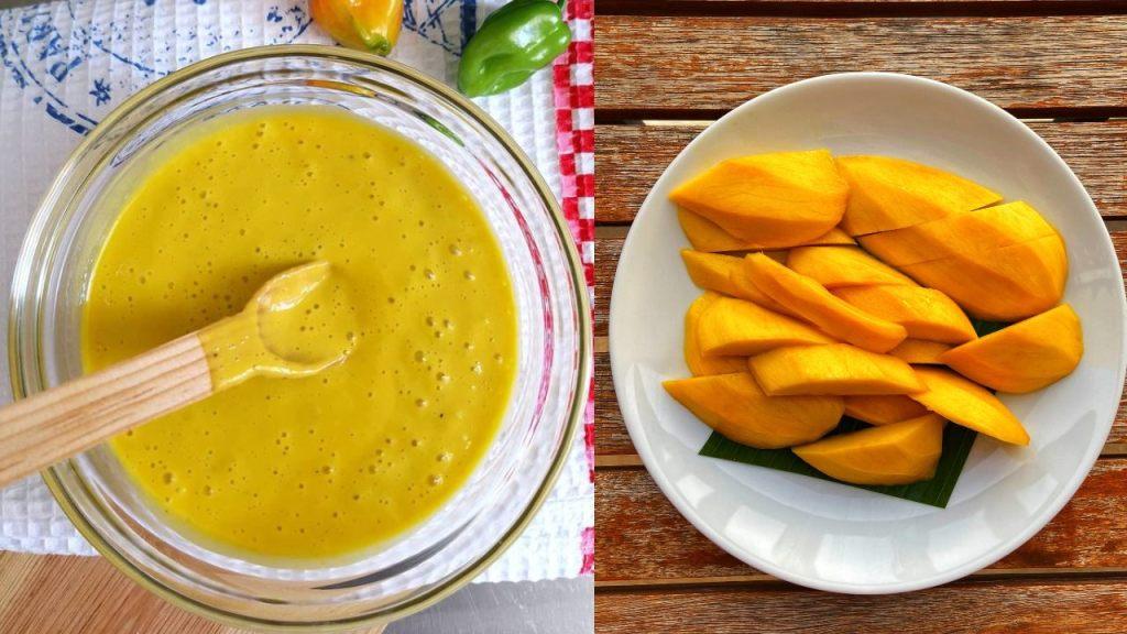 aderezo de mango como hacer receta ensaladas