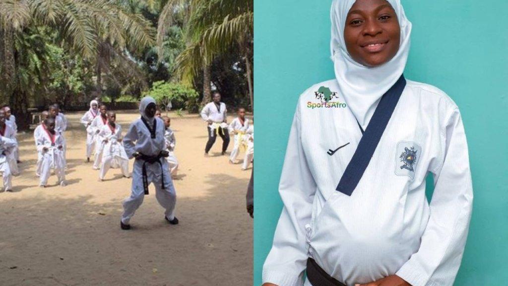 mujer gano oro en taekwondo embarazada