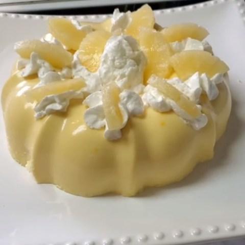 gelatina de piña colada con crema leche condensada receta