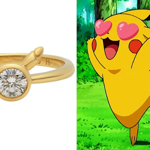 anillo compromiso Pikachu Pokémon anime otakun