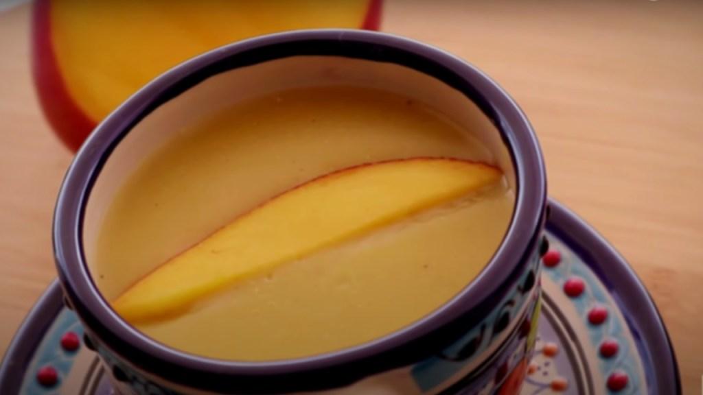 cómo hacer atole de mango receta