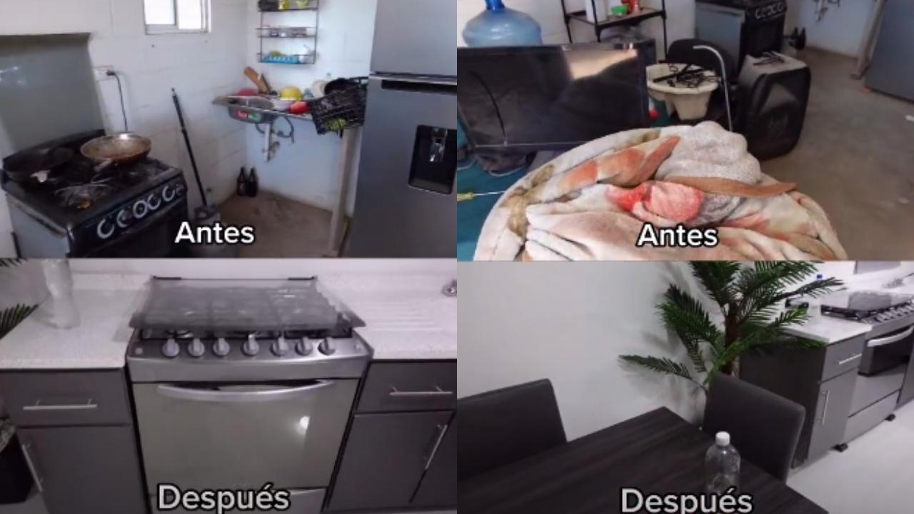 La remodelación de un youtuber con 14 mil pesos de una casa de Infonavit