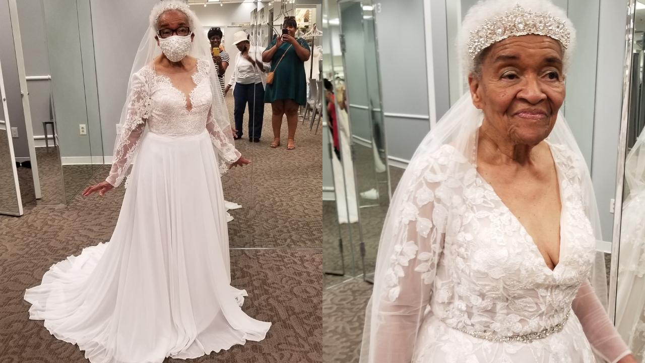Cumple su sueño de vestirse de novia 70 años después de su boda