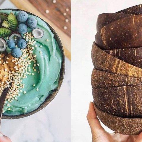 como hacer bowls con cascaras de coco