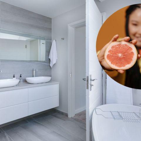 Remedio con toronja para lavar el baño
