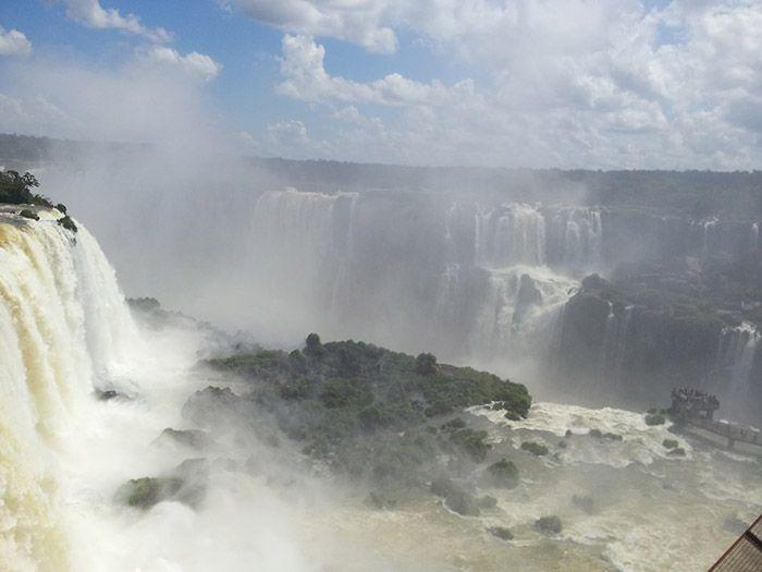 Vista de las cascadas de Iguazú des de arriba