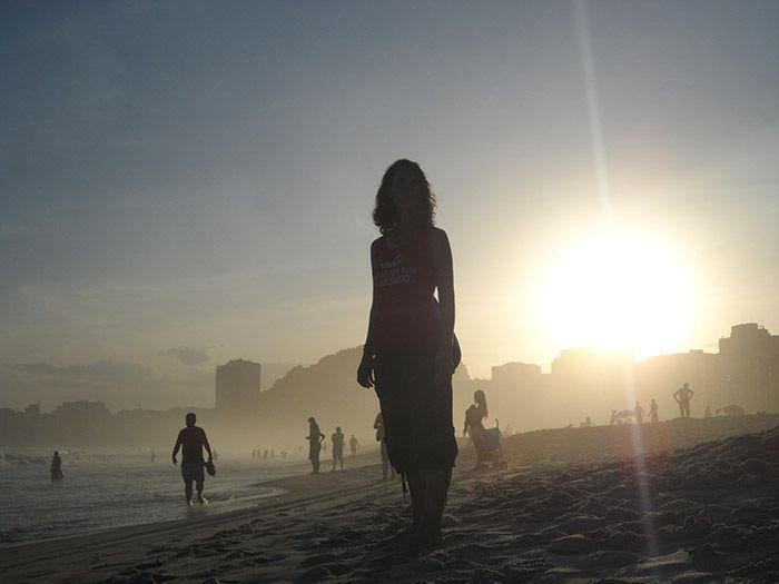 Atardecer en Praia de Copacabana