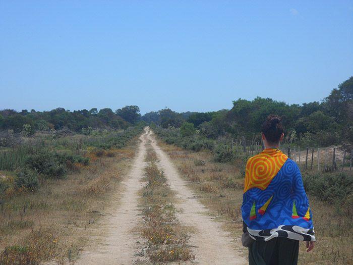 Cada día teníamos tres cuartos de hora caminando hasta el pueblo.