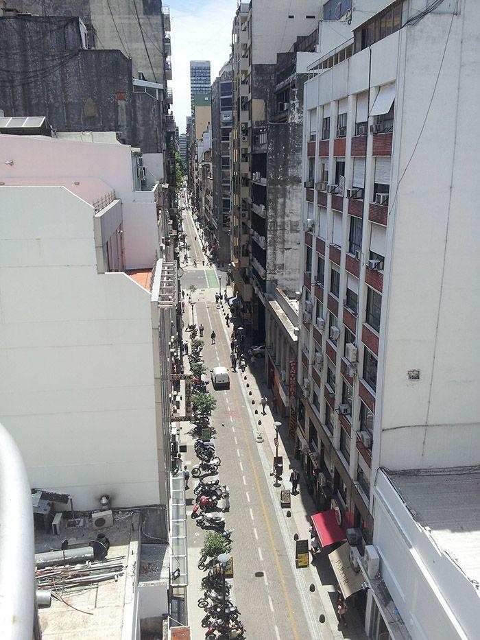 Vista desde el balcón de casa de Víctor