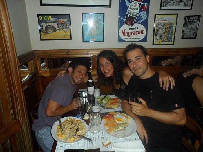 Maravillosa cena con Víctor en un restaurante de San Telmo