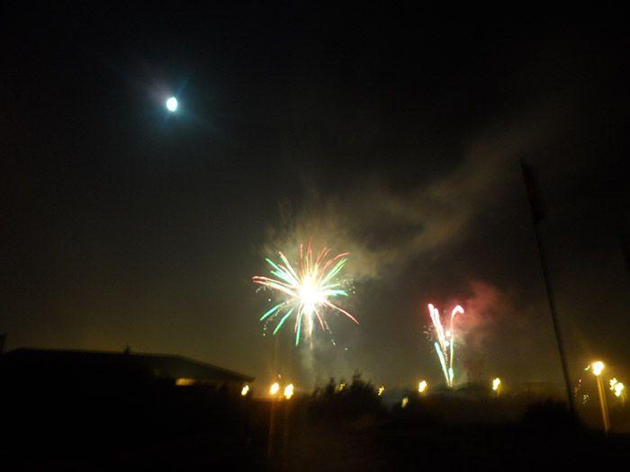 Fuegos artificiales de fin de año en La Paloma, Uruguay